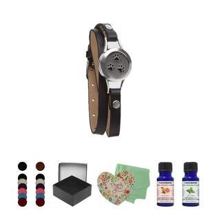 T Zone Health Black Faux Leather Paws Bracelet Set (EA1)