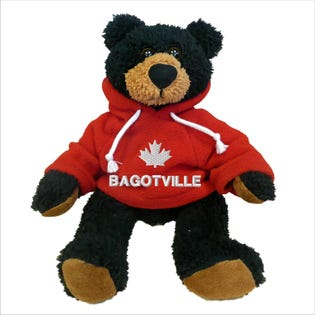 Bagotville Black Bear Plush 10""