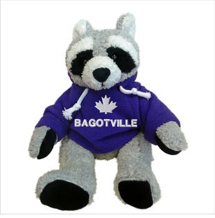 Bagotville Raccoon Plush 10""