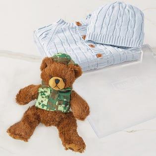 Panier-cadeau Bébé au chaud, bébé heureux bleu, CANEX X Baskit (édition limitée)