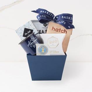 Panier-cadeau avec pièce de monnaie à collectionner Rien que pour vous, Appuyons Nos Troupes X Baskit (édition limitée) (EA3)