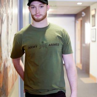 Paquet de 3 t-shirts de l'Armée canadienne (inscription bilingue) pour hommes