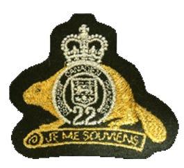 R22eR Fabric Beaver Badge