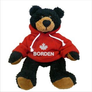 "Borden Black Bear Plush 10"""