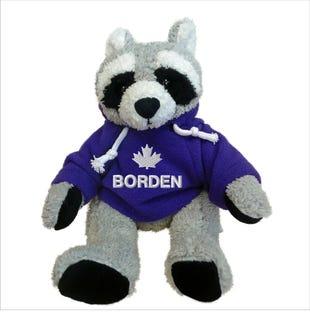"""Borden Raccoon Plush 10"""""""