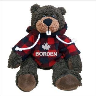 "Borden Beaver Plush 10"""