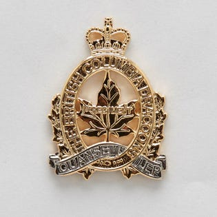 BRITISH COLUMBIA DRAGOONS – Insignes de col  pour officiers