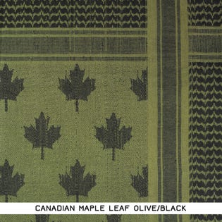 CAMCON Shemagh Maple Leaf Olv/Blk