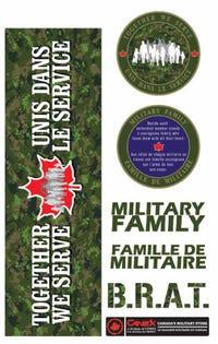 Military Family Sticker Sheet