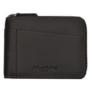 Club Rochelier Mens Leather Zipper Wallet Black CL112300-CW (EA1)