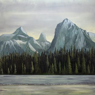 CANVAS CANDY Scenic Beauty Mountain 30''x30''
