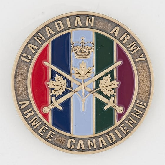Army 5 Divisions Coin