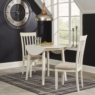 ASHLEY Dining Room Drop Leaf Table Slannery