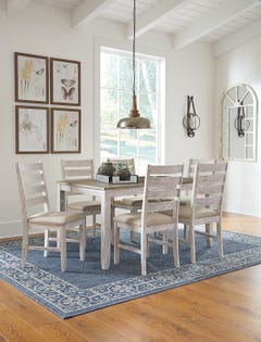ASHLEY Dining Room Table Set Skempton (7/CN)