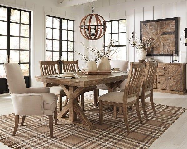 Ashley Rectangular Dining Room Table Grindleburg