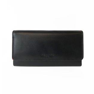 Portefeuille à rabat pour femmes ClubRochelier DH4464-1BLK (EA1)