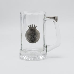 HMCS Cabot Beer Stein with Pewter Crest