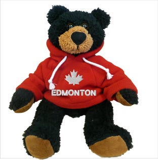 Edmonton Black Bear Plush 10""
