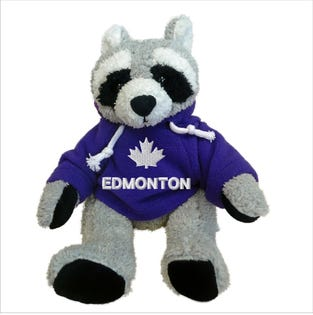 Edmonton Raccoon Plush 10""