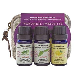 Ensemble de 3 huiles essentielles de 10ml de T Zone Health Health sur le thème de l'immunité (EA1)
