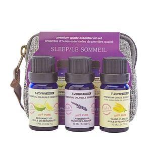 Ensemble de 3 huiles essentielles de 10ml de T Zone Health Health sur le thème du sommeil (EA1)