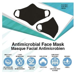 NF Reusable Face Mask 3 PK Blk