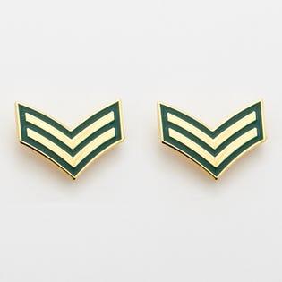 Épingles de grade pour col des UDE de l'Armée canadienne - Caporal, ensemble de 2