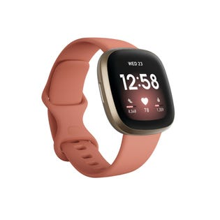 Fitbit Versa 3 Gold w Pink Band