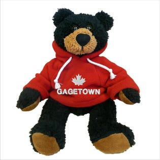 Gagetown Black Bear Plush 10""