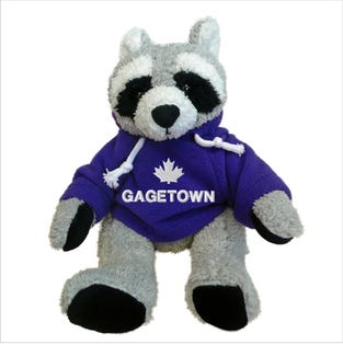 Gagetown Raccoon Plush 10""