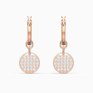 Swarovski Ginger Mini Hoop Pierced Earrings