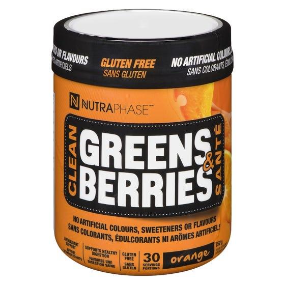 Nutraphase Greens & Berries - Orange 30 Servings