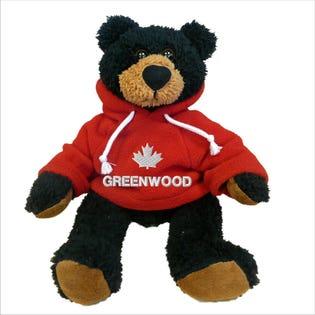 """Greenwood Black Bear Plush 10"""""""