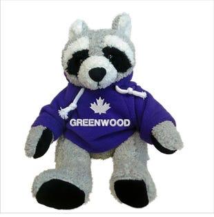 """Greenwood Raccoon Plush 10"""""""