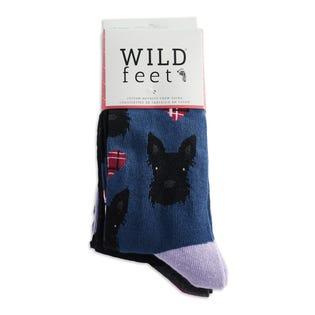 WILDFEET W Scottie Dog 3PK Socks