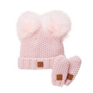 Ensemble tuque et mitaines Adorable en tricot - Bébés H4085T-3215