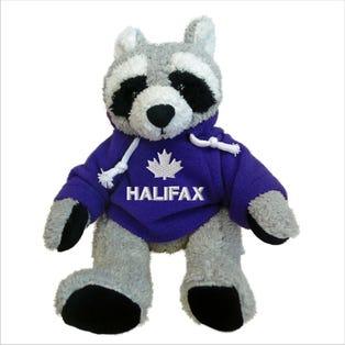 Raton laveur Halifax en peluche de 10 po