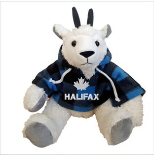 Chèvre Halifax en peluche de 10 po