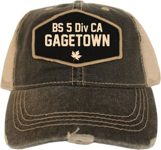BS 5 Dic CA Gagetown Vintage Style Ball Cap