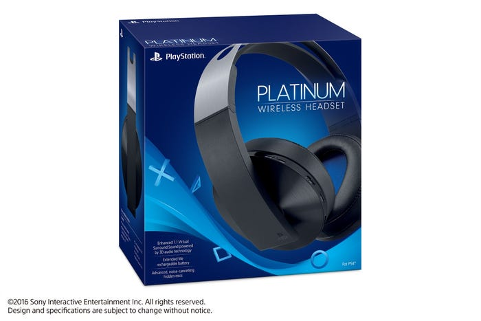 Sony Platinum Gaming Headphones