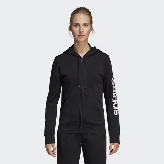 Adidas Women's Essential Linear Full Zip Hoodie