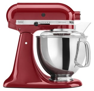 Batteur sur socle à tête inclinable KitchenAid  (KSM150PS)