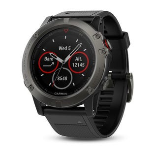 GARMIN Fenix 5X GPS Watch Slate Gray Sapphire w/ Black Band