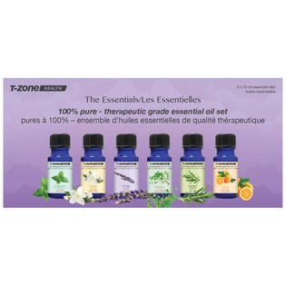 T-ZONE Essential Oils 6 pack 10ml