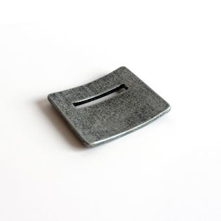Square Coin Holder Silver