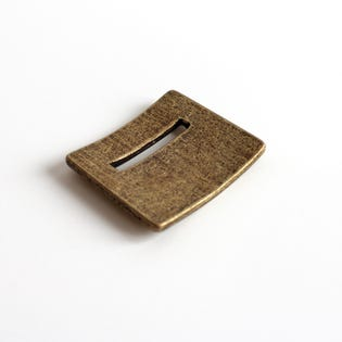 Square Coin Holder Brass