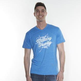 T-shirt à col en V Military Family pour hommes