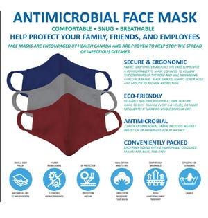 NF Reusable Face Mask 3 PK Multi