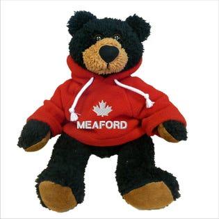 "Meaford Black Bear Plush 10"""