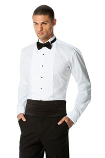 Men's Tuxedo Shirt with Wing Tip Collar